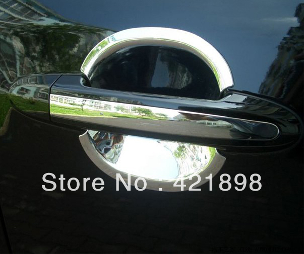 For <font><b>Hyundai</b></font> <font><b>Santa</b></font> <font><b>Fe</b></font> <font><b>2010</b></font> 2011 2012 ABS Chrome Door Bowl Trim image