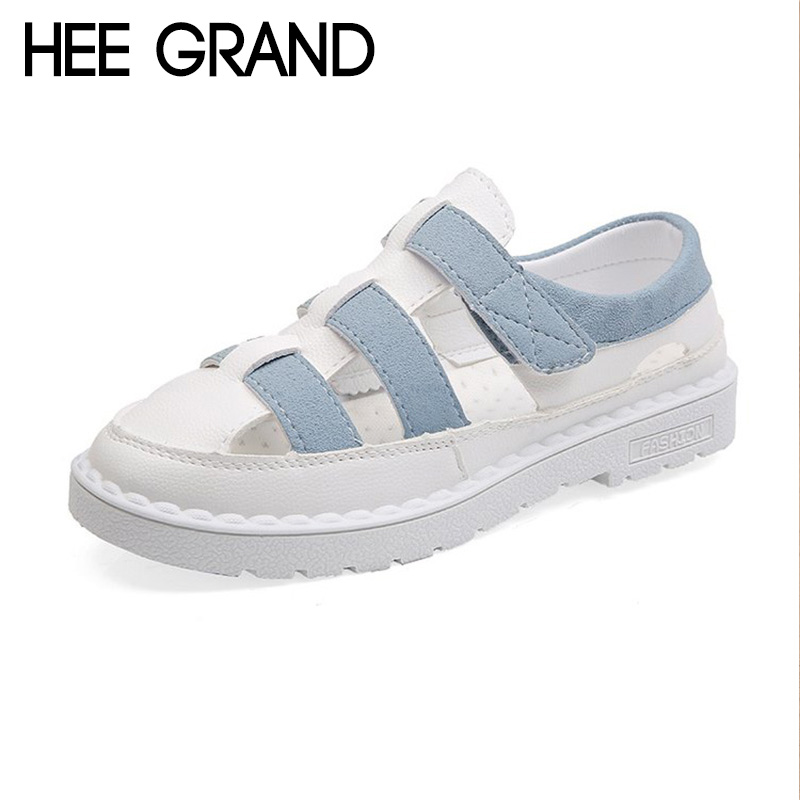HEE GRAND 2018 New Summer Flats Sandals Woman Causal Flat With Soft Bottom Comfortable Flip Flops Strap Mujer Shoes XWZ4997