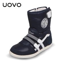 UOVO 2017 детская обувь зимние сапоги для мальчиков/девочек сапоги водонепроницаемые дети снег сапоги плюшевые обувь botas резиновые сапоги 26-37
