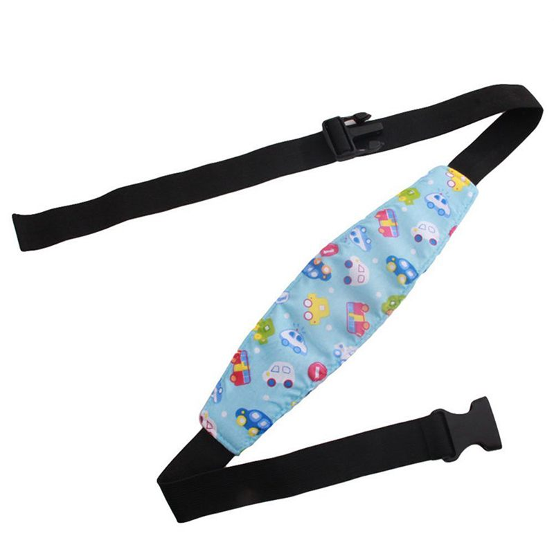 1Pcs Fixing Band Baby Kid Head Support Holder Car Print Sleeping Belt Car Seat Sleep Nap Holder Belt Baby Stroller Safety Seat