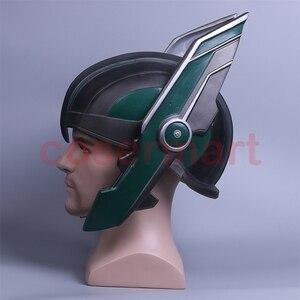 Image 3 - 2017 Thor 3 Ragnarok Helmet Cosplay Thor Helmet PVC Mask Handmade Halloween Mask Caps New
