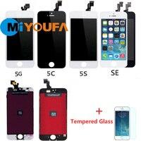 AAA Completa Substituição da Tela LCD Para o iphone 4 4S 5 5S 5C SE Display Lcd com Digitador Assembléia Toque + Filme De Vidro Temperado