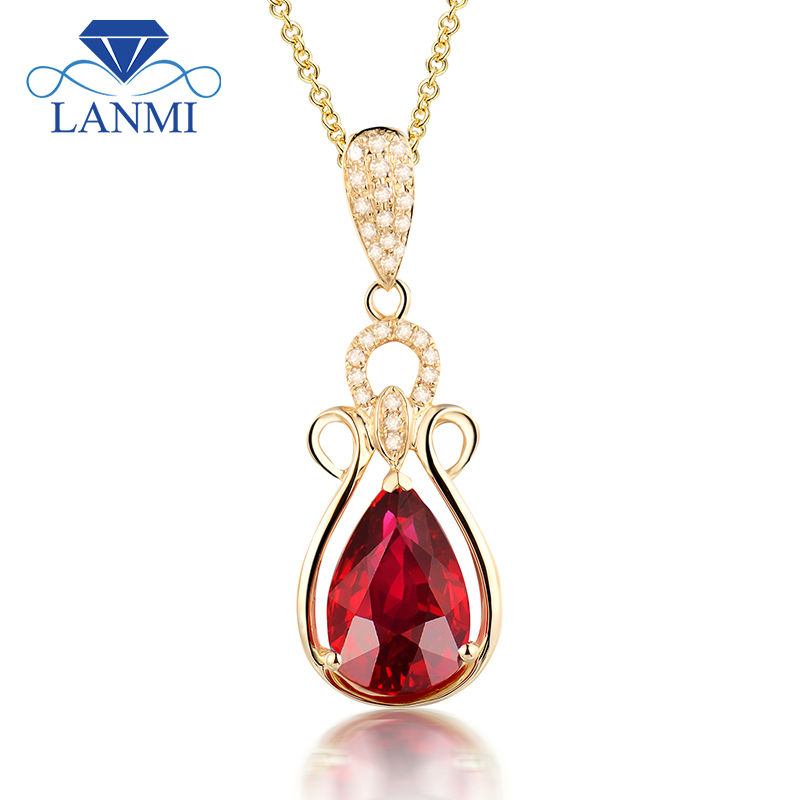 Vintage Solid 22k Gold Ruby Gemstone Necklace Earring: Aliexpress.com : Buy Vintage Pear 8x12mm Solid 14Kt Yellow