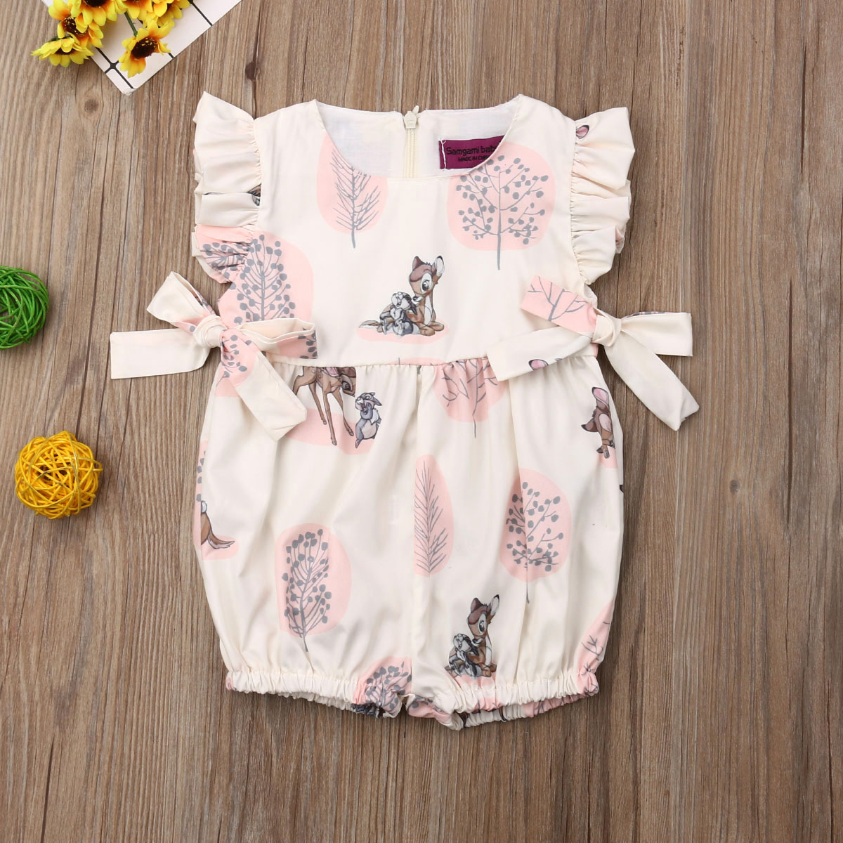 Cute Newborn Baby Girl Animal Printed   Romper   Jumpsuit Summer Outfits Clothes Sunsuit