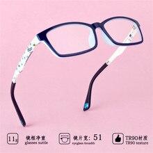 Детские очки, легкие очки с гибкой оправой, детские очки по рецепту для мальчиков и девочек, оправа TR90, оптические 685