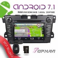 TOPNAVI 7 Android 7 1 Car Media For Mazda CX 7 2012 2013 Auto GPS Navigation