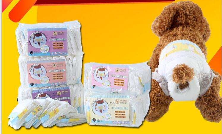 10pcs/bag Disposable Female Pet Dog Diapers Puppy Shorts XXS XS S M L XL Super Absorbent Diaper Pet Dog Training Sanitary Napkin
