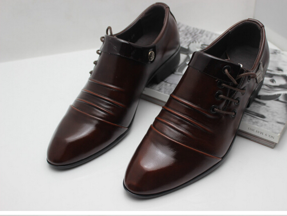 British business casual men s shoes office pointed out retro shoes ... e8cd58e22496