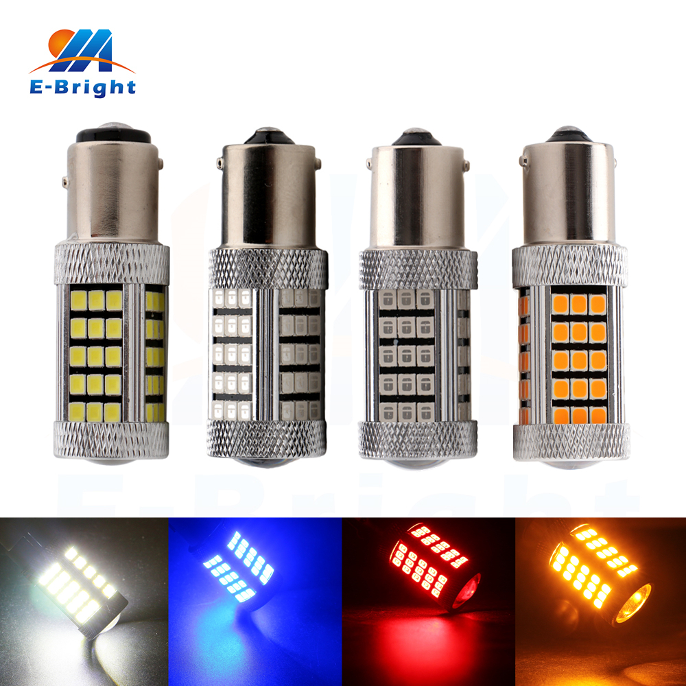 10pcs 12V 2835 66 SMD LED Bulb 1156 BA15S 1157 BAY15D Auto Signals Turn Backup Reverse Leds White Red Blue Amber Light cyan soil bay car auto t10 25w 30 led smd 4014 lamp parking reverse backup light w16w fog bulb ice blue red amber yellow white