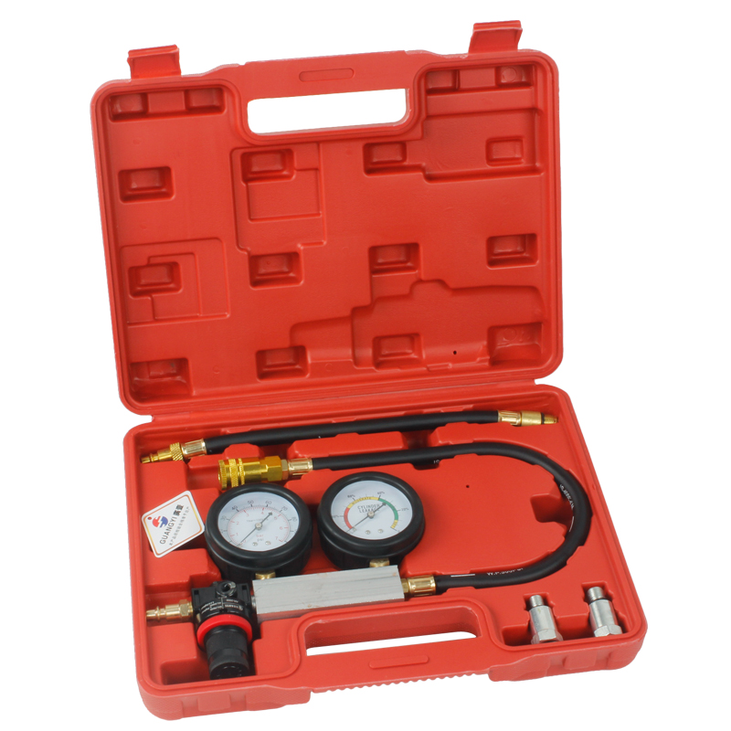 TU-21 Petrol Engine Cylinder Compression Leak Detector Tester Gauge Tool Kit
