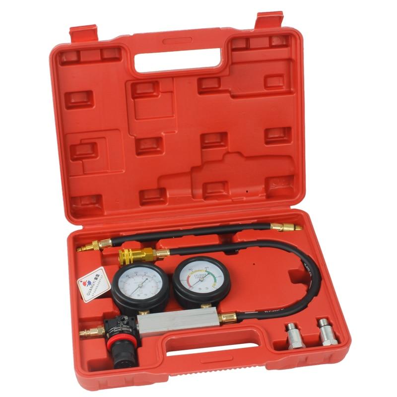 TU-21 Petrol Engine Cylinder Compression Leak Detector Tester Gauge Tool Kit
