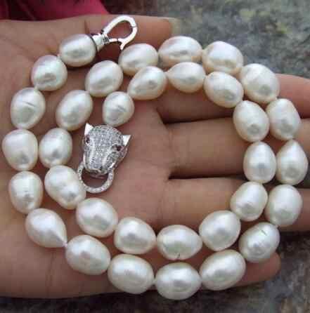 จัดส่งฟรีขนาดใหญ่ AAA + 10-11 MM South Sea Black Baroque Pearl สร้อยคอ 18 นิ้ว