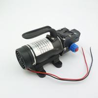 100w 8LPM automatic pressure switch water pump dc 12V small electric diaphragm High Pressure self priming pump built in fan