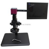HDMI HD USB Digital Industry Microscope Camera+Fine adjustment bracket+10X-200X C-Mount Lens+56 LED Light+10-inch Monitor