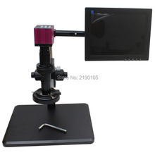 Best price HDMI HD USB Digital Industry Microscope Camera+Fine adjustment bracket+10X-200X C-Mount Lens+56 LED Light+10-inch Monitor