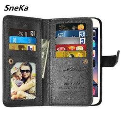 Etui flip wallet multi card skórzane etui do Huawei P Smart P20Lite Nova 3e 2 3 3i Honor 8X 6A 8 9 10 Play Honor 6C Pro 10 Lite okładka w Etui na portfel od Telefony komórkowe i telekomunikacja na