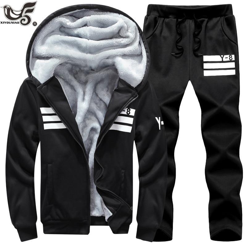 Image 3 - Big Size 7XL 8XL 9XL Brand Men Sets Autumn winter Sporting Suit Sweatshirt + Sweatpants Mens Clothing 2 Pieces Sets Tracksuit-in Men's Sets from Men's Clothing