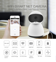 smart Camera with 64G storage Wireless Indoor Security Surveillance System 1080p HD Night Vision Remote Monitor with wifi