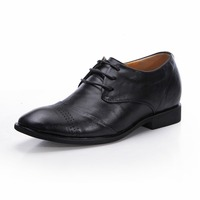 8121 Free Shipping Patent Leather Party Dress Oxfords Shoes In Height Lift Black Color Grow Taller