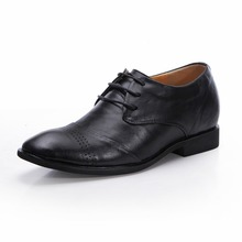 Z8121- 2015 Men's Black Patent Leather Dress Oxfords Party Shoes, Height Increasing Shoes Grow Taller 7CM for Men Wedding