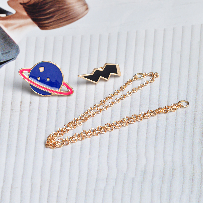 Universe Brooches Pins Astronaut Helmet Whale Robot X men Planet Lightning Gesture Badge Lapel pins Out space Pins Collection in Brooches from Jewelry Accessories