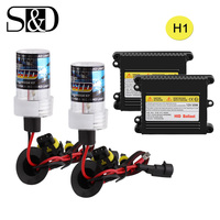 H1 Xenon Hid Conversion Kit 35W 55W Slim Ballast Bulbs Auto Headlight Car Light Source Xenon