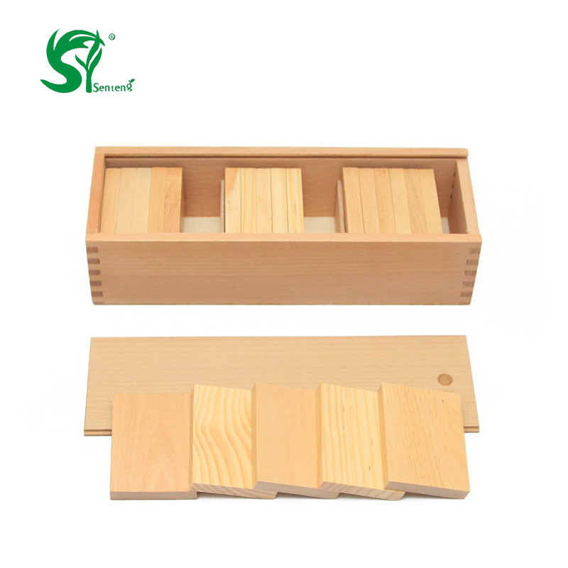 ФОТО Montessori Weight Board Baby Toy Baric Tablets with Box Early Childhood Education Preschool Training Learning Tools oyuncak