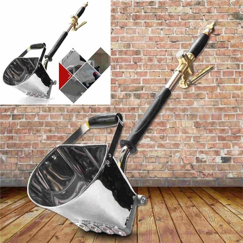 New 4-5L Mortar Sprayer Wall Mortar Gun Stucco Shovel Hopper Ladle Cement Spray Gun Air Stucco Sprayer Plaster Hopper Gun