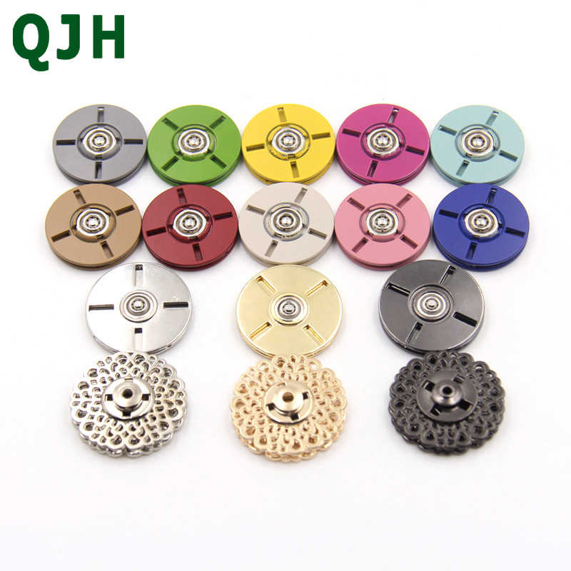18colors Brand High quality Metal Snap Buttons 10-30mm Clothes Coat Sweater Button Overcoat Bag Garment Accessories Scrapbooking