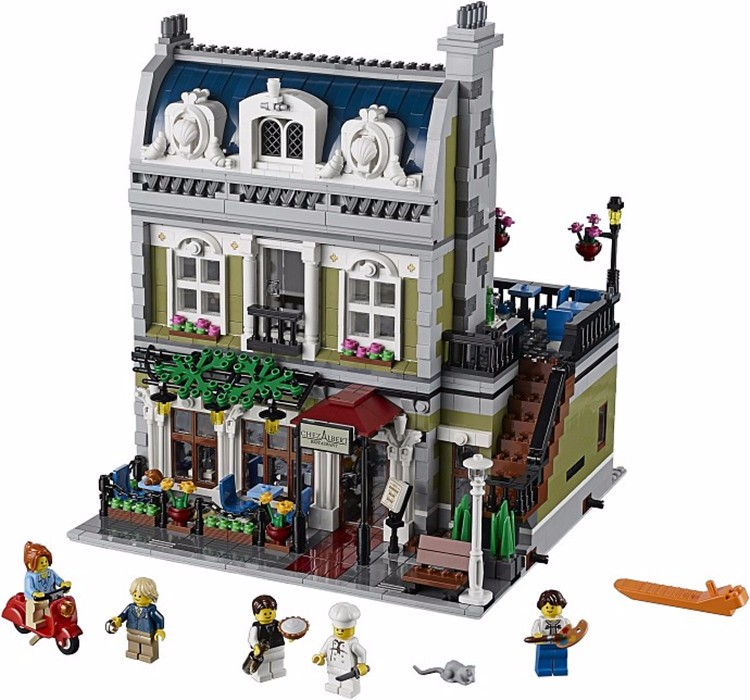 Lepin 15010 2418PCS Expert City Street Parisian Restaurant Model Building Kits Block Toy Compatible legoed 10243 new lepin 22001 pirate ship imperial warships model building kits block briks toys gift 1717pcs