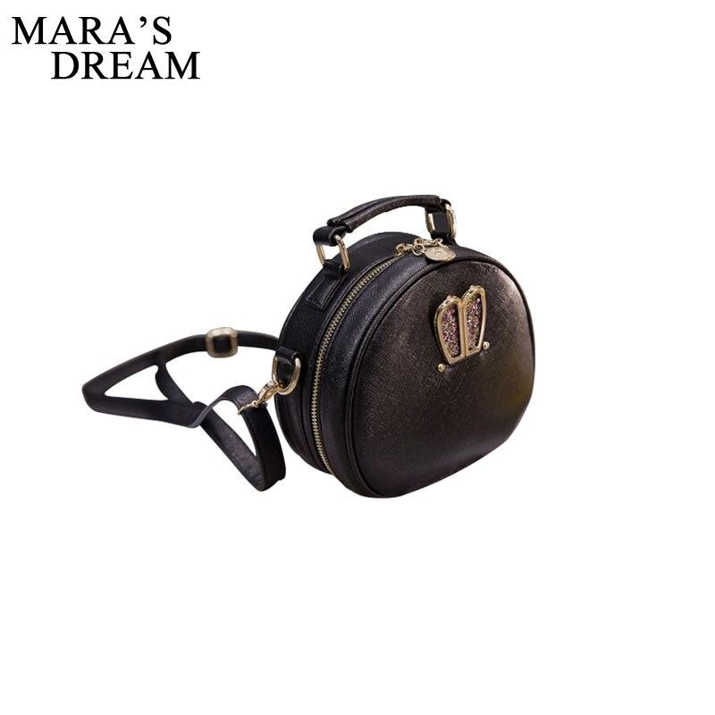 Mara's Dream Mini Women Bags Rabbit Ear Round PU Leather Handbag New Cute Lady Shoulder Crossbody Messenger Bag Bolsa Feminina