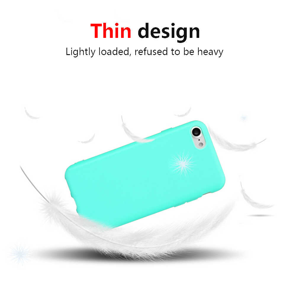 Simple Solid Color Phone Case For iPhone 7 8 6 6S Plus X XS Max XR 5 5S SE Soft Silicone Cover For iPhone 6 6 S PLUS Capa Coque