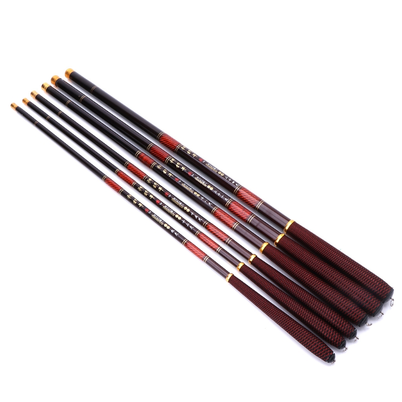 Fishing Rod 2.7-7.2m Pole High Carbon Fiber Ultra Light Telescopic Carp Current ...