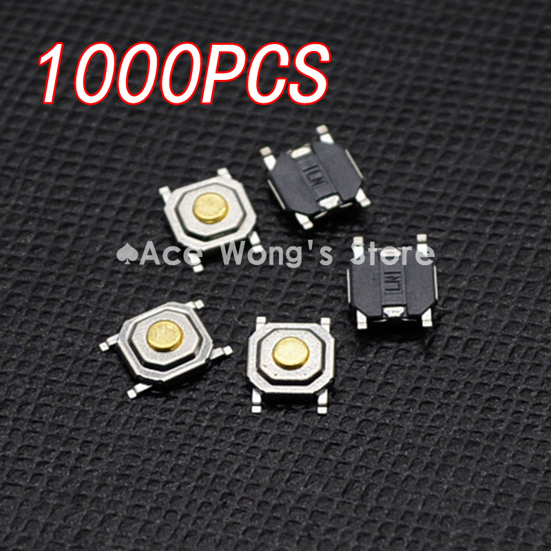 1000pcs/Lot SMD 4*4*1.5MM 4X4X1.5MM Tactile Tact Push Button Micro Switch Momentary 20pcs lot 8x8x5mm 4pin g77 conductive silicone soundless tactile tact push button micro switch self reset free shipping