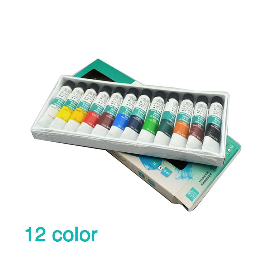 12 Colors 10ML Set Acrylic <font><b>Paint</b></font> Ceramics <font><b>Paint</b></font> Glass <font><b>Paint</b></font> Color Wall Drawing Hand Painted For Kids Children School DIY Teach