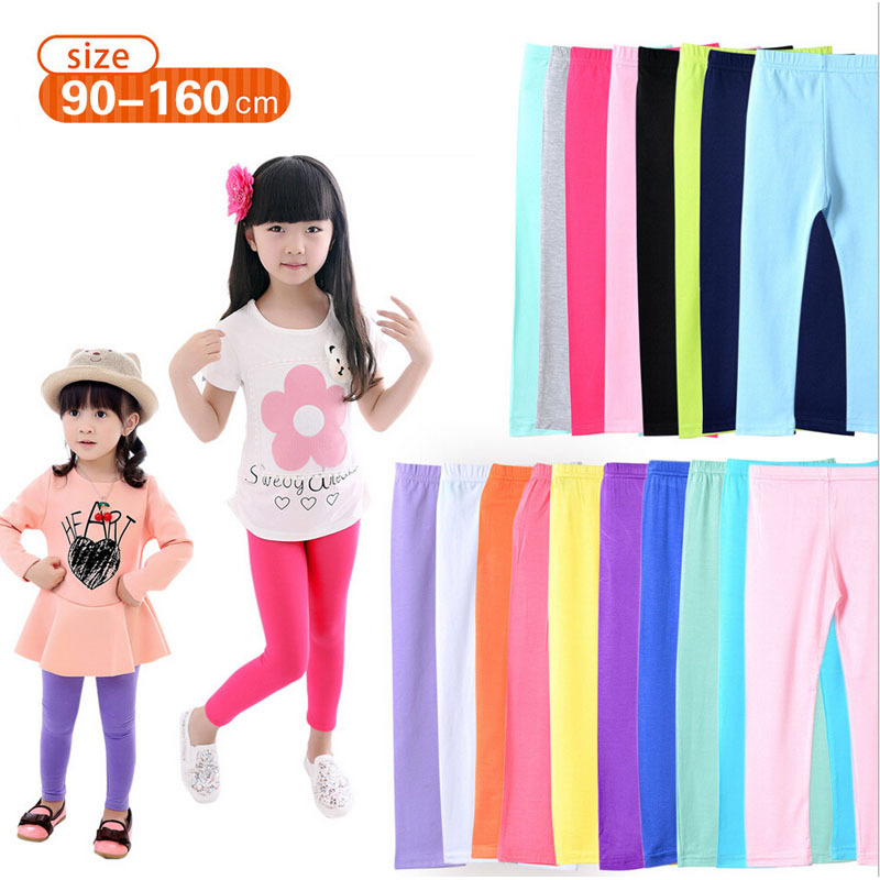 d4a962020ce67 Girl pants new arrive Candy Color children leggings Toddler Classic Leggings  2-14Y baby girls leggings kids leggings