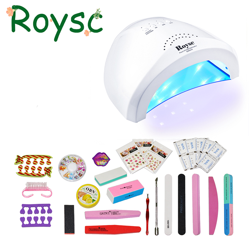 Fashion UVLED 48W UV LED Nail Dryer SUNone Professional 48W LED Light UV Lamp Nail Dryer White Nail Art Tools