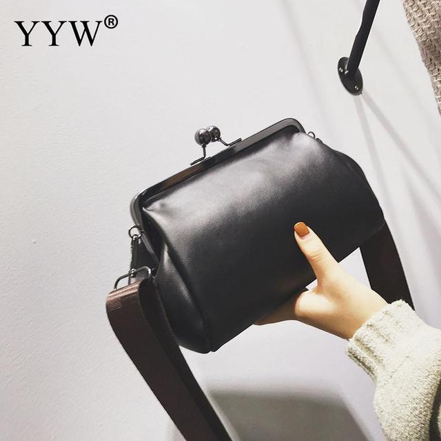 42f28cdf59c5 Pu Leather Crossbody Bag Fashion Women Shell Bags New Women Shoulder Bags  Lady Handbags Vintage Chain Personalized Small Bag