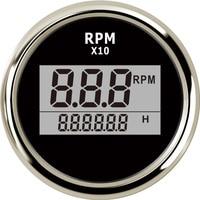 보트 led 디지털 타코미터 엔진 hourmeter 해양 선외 트럭 자동차 rv 방수 rpm 미터 방수 0 9990 rpm 52mm|회전 속도계|   -