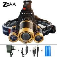 ZPAA 2017 Rotate Focus Induction Headlight IR Sensor Head Lamp Rechargeable Lantern CREE XM L T6