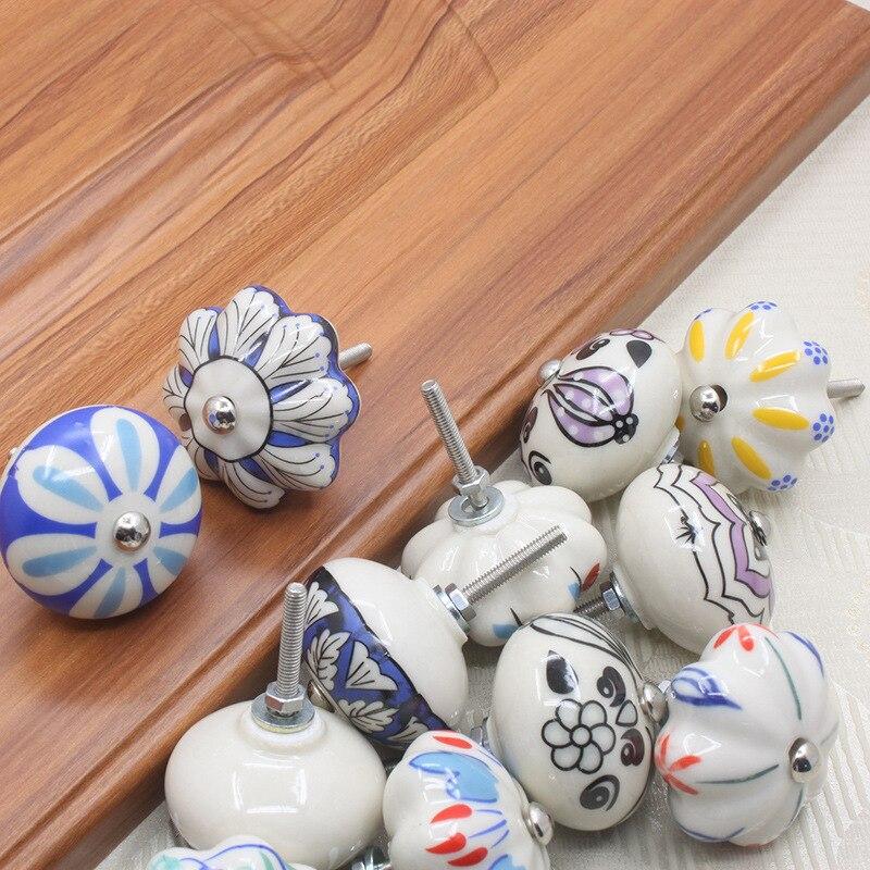 Мебельная фурнитура 40 мм ручка для мебели керамические ручки для ящиков шкафа и ручки дверный шкаф кухонные ручки