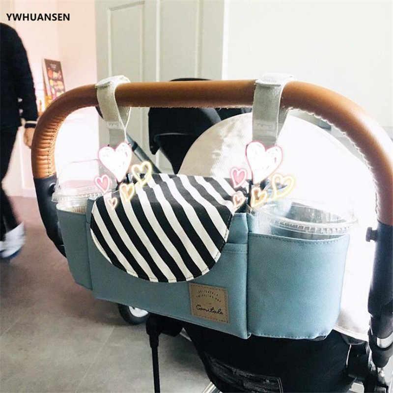 Сумка-Органайзер для детских колясок для умных мам премиум-класса, держатели для глубоких чашек, очень большое пространство для хранения бумажников, подгузников, книжных игрушек