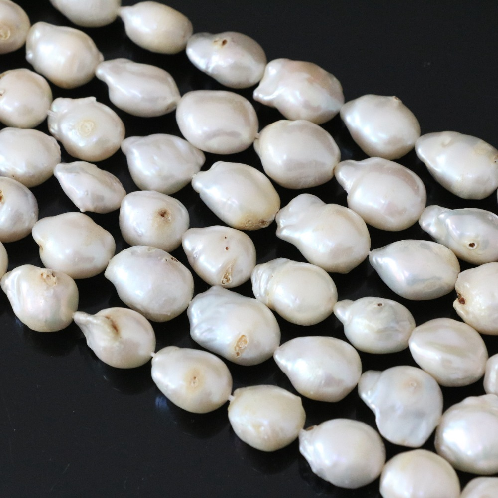 large pearls edison color semi real drop shaped white irregularly lustrous freshwater strands irregular en baroque a pearl product