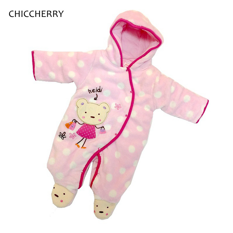 Infantil Monkey Pink One Piece Baby Girl Romper Jumpsuit Cotton Padded Warm Baby Winter Clothes Macacao Bebe Infant Clothing new winter 2015 women cotton padded clothes draw string of cultivate one s morality show thin fashionable
