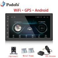 Podofo Car Multimedia Player Andriod GPS Navigation 2DIN Autoradio WiFi USB FM AM 2 Din 7 Car Audio Radio Stereo Backup Monitor