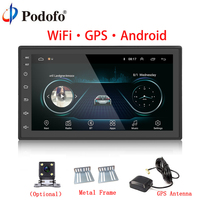 Podofo Car Multimedia Player Andriod GPS Navigation 2DIN HD Autoradio WiFi USB FM 2 Din 7 Car Audio Radio Stereo Backup Monitor
