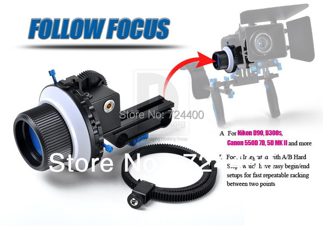 2014 Steadycam [drop Shipping] Professional Dslr Follow Focus F3 for 15mm Rod Support 5d2 7d 60d 550d Camera Dv Hdv 30200019