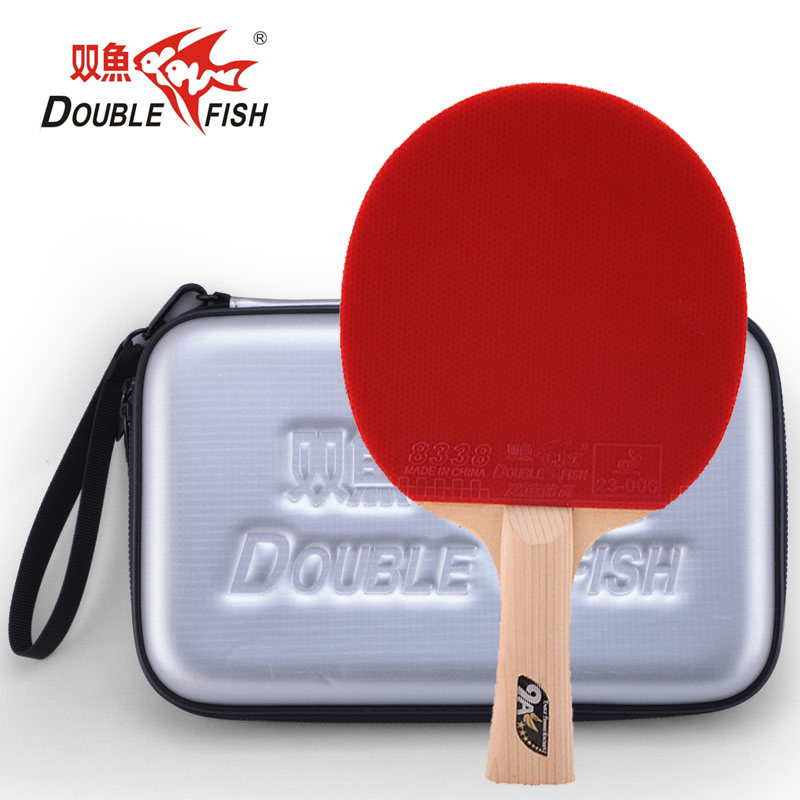 Double fish 9AC 7 PLY carbon fiber table tennis racket paddle loop fast attack offensive horizontal