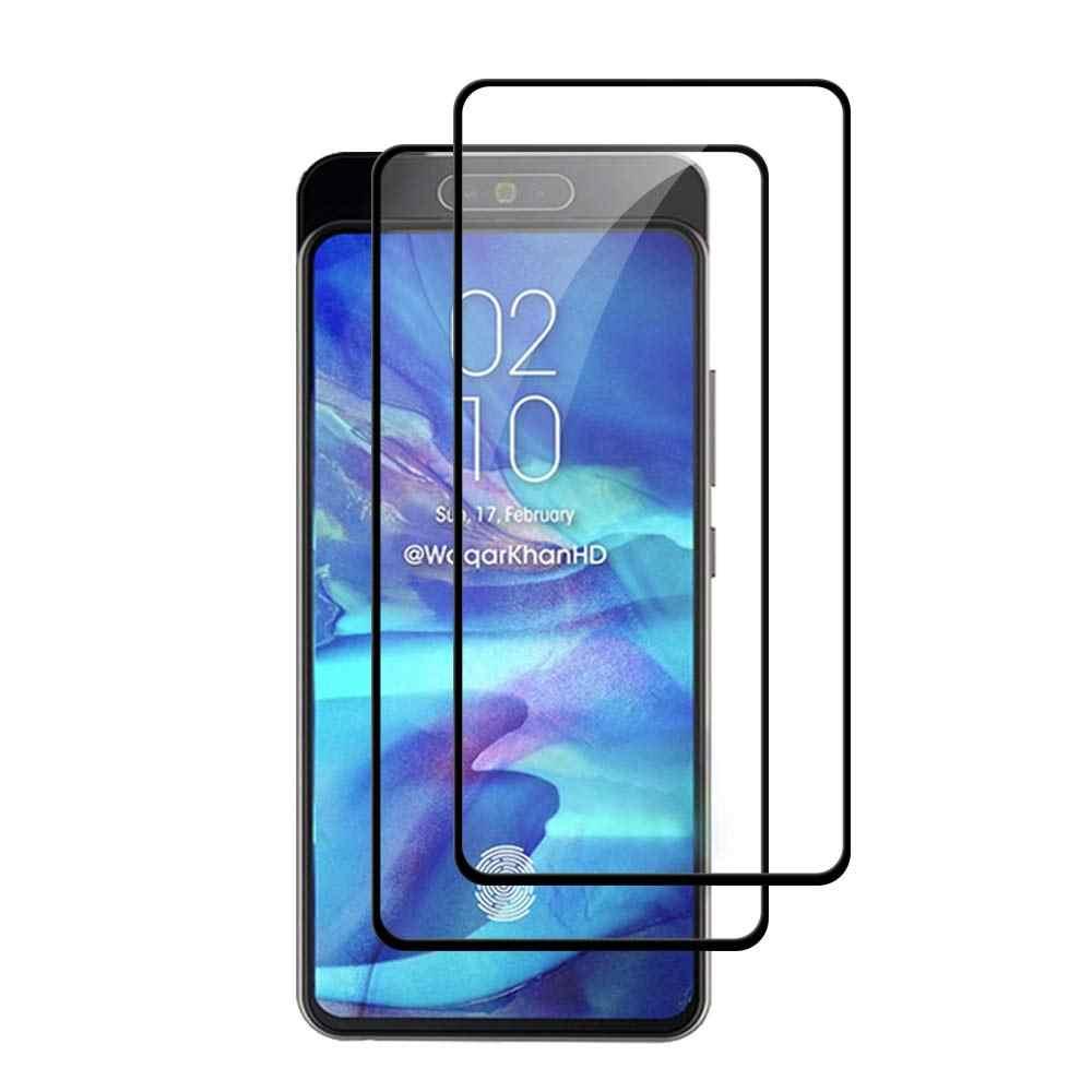 9 H 3D كامل غطاء الزجاج المقسى لسامسونج غالاكسي A10 A20 A30 A40 A50 A60 A70 A80 A90 2019 كامل الغراء واقي للشاشة فيلم