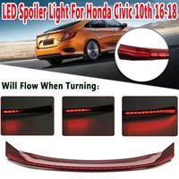 1Pcs LED Rear Trunk Center Spoiler Tail Light Brake Light Fits for Honda for Civic 10th 16 18 Car Light Assembly